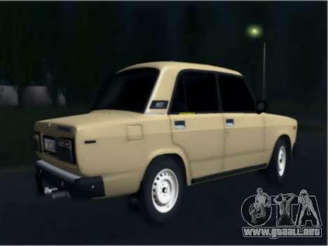 Ваз 21074 Beige Belleza para GTA San Andreas vista posterior izquierda