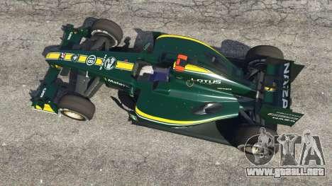 GTA 5 Lotus T127 vista trasera