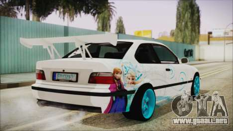 BMW M3 E36 Frozen para GTA San Andreas left