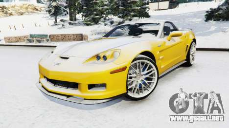 GTA 5 Chevrolet Corvette ZR1 vista lateral derecha