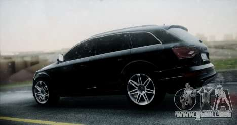 Audi Q7 para GTA San Andreas vista posterior izquierda