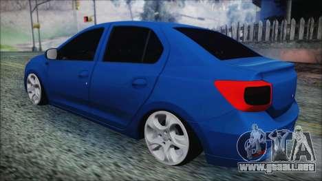 Dacia Logan 2015 para GTA San Andreas vista posterior izquierda