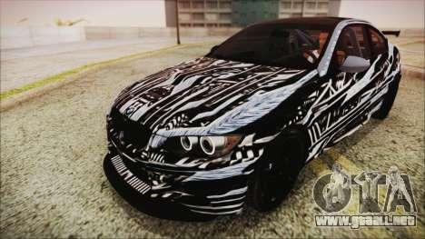 BMW M3 GTS 2011 HQLM para la vista superior GTA San Andreas