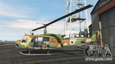GTA 5 Bell UH-1D Israeli Air Force segunda captura de pantalla