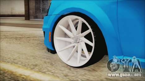 Dacia Logan Cadde Style para GTA San Andreas vista posterior izquierda