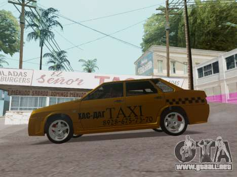VAZ 21099 Tuning Russian Taxi para GTA San Andreas left