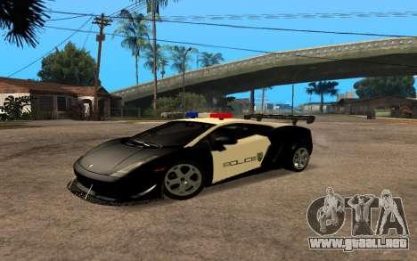 Lamborghini Gallardo Tunable v2 para GTA San Andreas vista posterior izquierda