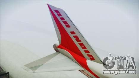 Boeing 747-237Bs Air India Emperor Shahjehan para GTA San Andreas vista posterior izquierda