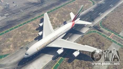 GTA 5 Airbus A380-800 cuarto captura de pantalla