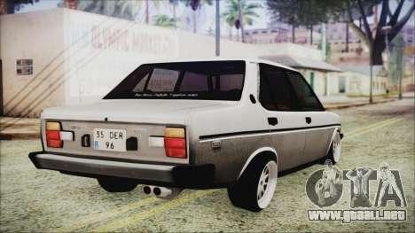 Tofas 131 Mirafiori Edition para GTA San Andreas left