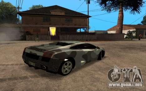 Lamborghini Gallardo Tunable v2 para visión interna GTA San Andreas