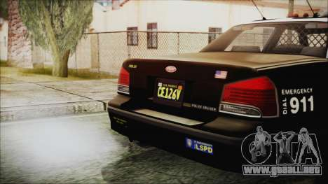 GTA 5 Vapid Stranier II Police Cruiser para la visión correcta GTA San Andreas