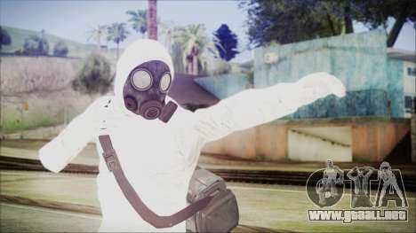 GTA 5 Online The Heist Gasmask Yellow para GTA San Andreas