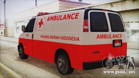 Indonesian PMI Ambulance para GTA San Andreas left