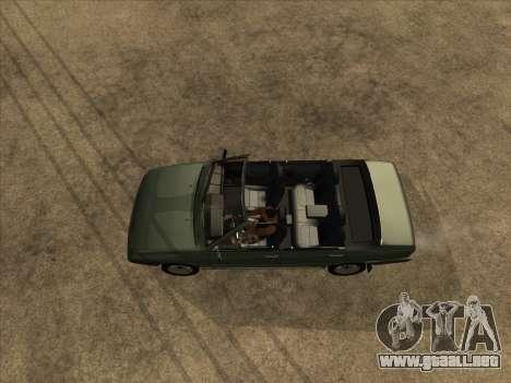 VAZ 21099 Convertible para GTA San Andreas vista hacia atrás