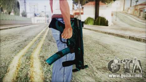 MP5K Black Blue Abstract para GTA San Andreas tercera pantalla