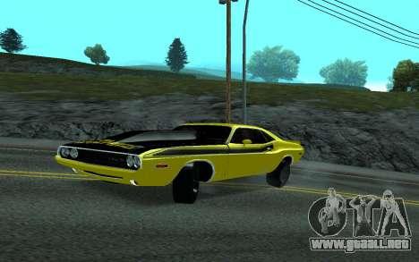 Dodge Challenger Tunable para GTA San Andreas vista posterior izquierda