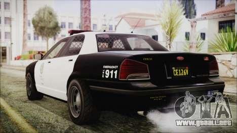 GTA 5 Vapid Stranier II Police Cruiser IVF para GTA San Andreas left
