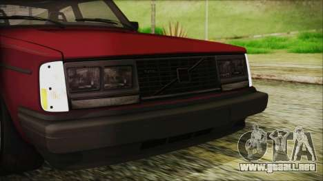 Volvo Turbo 242 Evolution Turbo 1983 para la vista superior GTA San Andreas