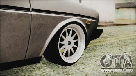 Tofas 131 Mirafiori Edition para GTA San Andreas vista posterior izquierda