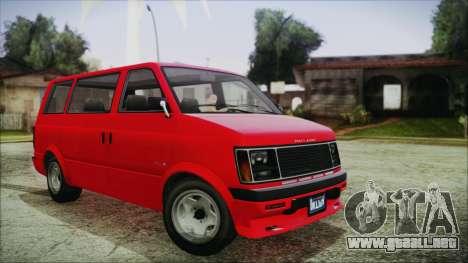GTA 5 Declasse Moonbeam IVF para GTA San Andreas