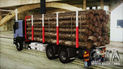 Iveco EuroTech Forest para GTA San Andreas left