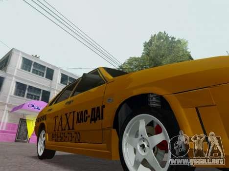 VAZ 21099 Tuning Russian Taxi para visión interna GTA San Andreas