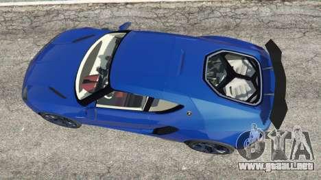 GTA 5 Lamborghini Asterion 2015 vista trasera