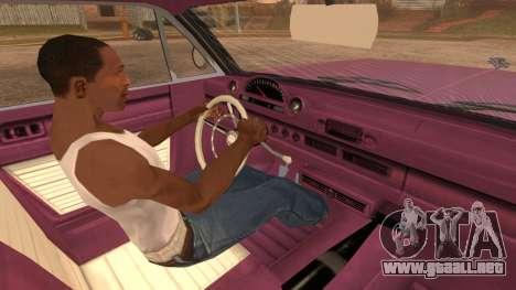 GTA 5 Declasse Clean Voodoo para GTA San Andreas vista posterior izquierda