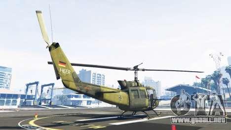 GTA 5 Bell UH-1D Huey Bundeswehr tercera captura de pantalla
