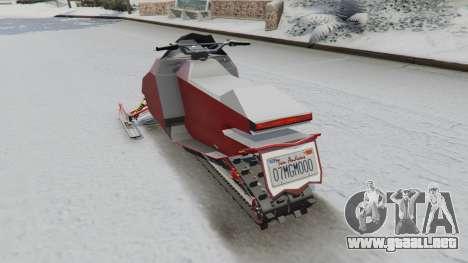 GTA 5 Motos de nieve vista lateral izquierda trasera