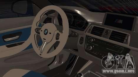 BMW M4 Stance 2014 para la visión correcta GTA San Andreas
