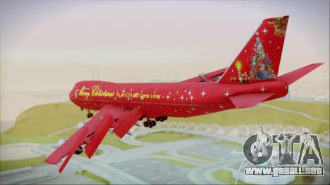 Boeing 747-100 Merry Christmas para GTA San Andreas left
