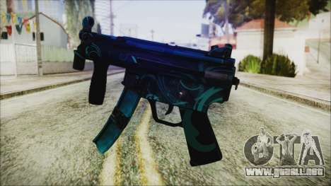 MP5K Black Blue Abstract para GTA San Andreas segunda pantalla