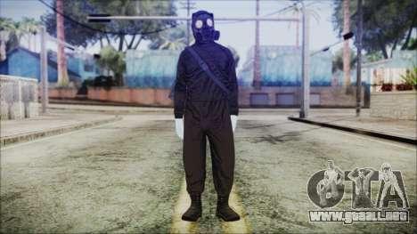 GTA 5 Online The Heist Gasmask White para GTA San Andreas segunda pantalla
