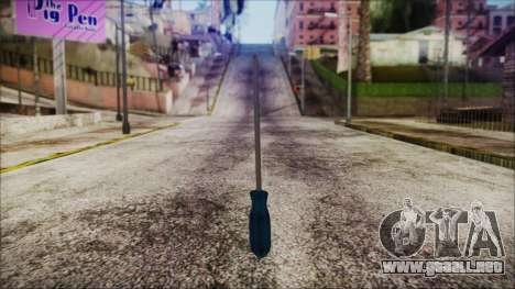 Screwdriver HD para GTA San Andreas segunda pantalla