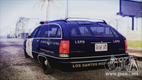 Chevrolet Caprice Station Wagon 1993-1996 LSPD para GTA San Andreas left