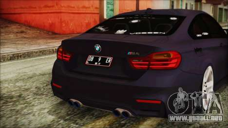 BMW M4 Stance 2014 para la vista superior GTA San Andreas