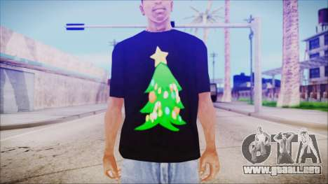 T-Shirt Christmas Tree para GTA San Andreas tercera pantalla