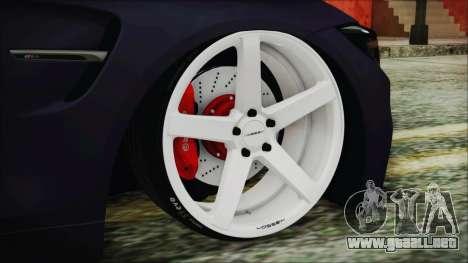 BMW M4 Stance 2014 para GTA San Andreas vista posterior izquierda