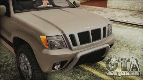 GTA 5 Canis Seminole IVF para GTA San Andreas vista hacia atrás
