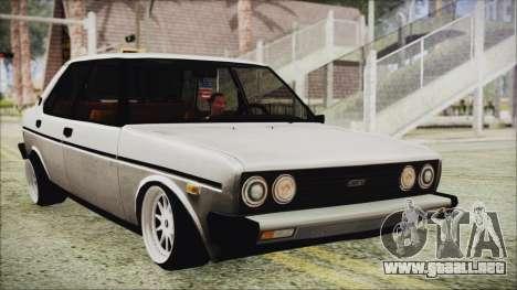 Tofas 131 Mirafiori Edition para GTA San Andreas