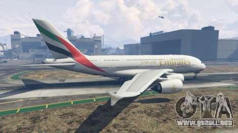 GTA 5 Airbus A380-800 segunda captura de pantalla