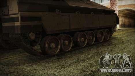 IFV-6C Panther Tracked IFV para GTA San Andreas vista posterior izquierda