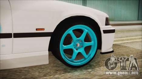 BMW M3 E36 Frozen para GTA San Andreas vista posterior izquierda