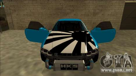 Nissan Skyline R34 Drift para la vista superior GTA San Andreas