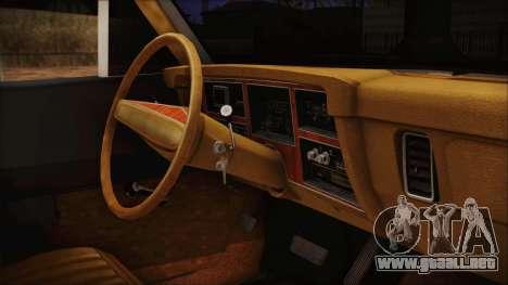 Dodge Dart 1975 para la visión correcta GTA San Andreas