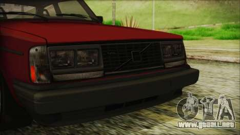 Volvo Turbo 242 Evolution Turbo 1983 para vista lateral GTA San Andreas
