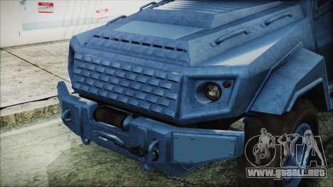 GTA 5 HVY Insurgent Van IVF para la visión correcta GTA San Andreas