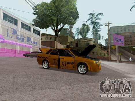 VAZ 21099 Tuning Russian Taxi para GTA San Andreas vista hacia atrás